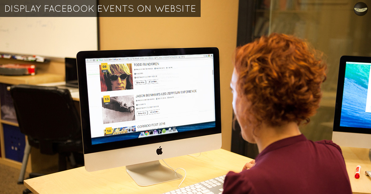 ... manager on your website? Do you create events on your Facebook page